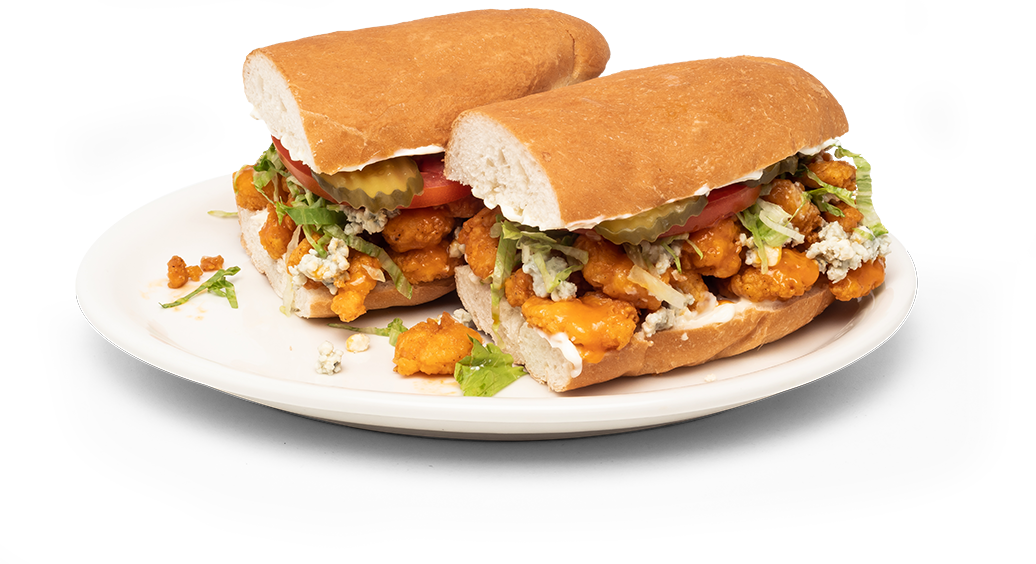 Buffalo Shrimp Po' Boy